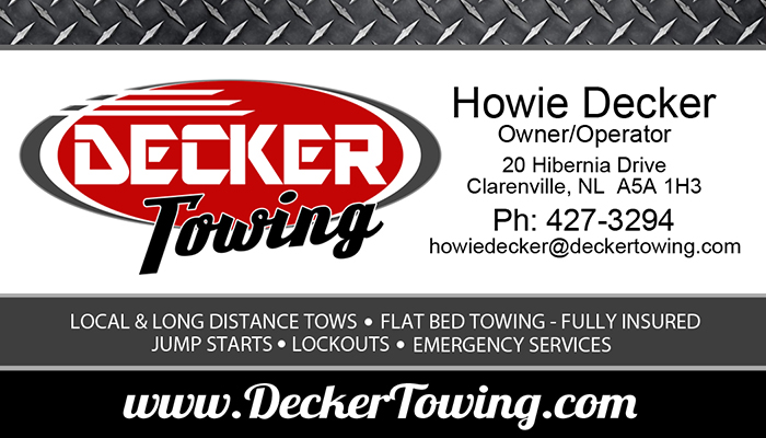 DEcker Towing Business Card – CGS Media